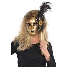 Maschere di oro in plastica per carnevale e teatro