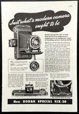 """1936 Kodak Special Six-20 Print AD """"Just what a modern camera ought to be"""""""
