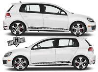 VW GOLF 3 4 5 6 7 Auto Seitenstreifen Aufkleber Grafik Racing Line Aufkleber.
