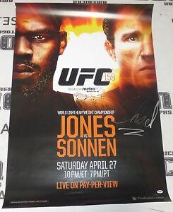 Chael Sonnen Signed Official UFC 159 Poster PSA/DNA COA vs Jon Jones Autograph