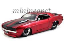 JADA 97402 1969 CHEVROLET CAMARO 1/24 DIECAST MODEL CAR RED with BLACK STRIPES