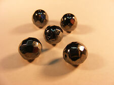 10 PERLES FACETTE  DISCO  HEMATITE DIAMETRE 10 MM  A75