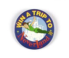 "1990's Disney's Peter Pan Win A Trip to Neverland 3"" Pinback Button"