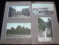 8x 1910 COLOR PHOTOGRAPHS of JAPAN KOBE & NARA & KASUGA TEMPLE P258