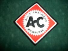 ALLIS CHALMERS, IRON ON EMBROIDERED CLOTH PATCH, NEW