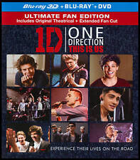 """One Direction This Is Us (BLU-RAY 3D/ 2D + Digital HD,UV) """"NEW, SEALED, SLIPCVR"""""""