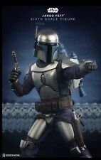 """SIDESHOW STAR WARS ATTACK OF THE CLONES JANGO FETT EXCLUSIVE 12"""" 1/6 FIGURE New"""