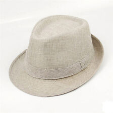 Men Women Unisex Summer Beach Hat Sun Jazz Panama Gangster Cap Trilby Fedora