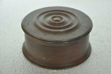 Old Wooden Handcrafted Round Unique Shape Powder Box , Collectible