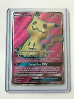 Mimikyu GX FULL ART ULTRA RARE 206/214 Lost Thunder Pokemon Card NM HOLO REAL