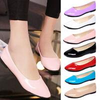Women Flats Ballerina Pumps Ballet Dolly Dress Shoes Loafers 7.5-10 Anti-Slip