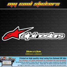 Alpinestars 20cm Vinyl Sticker Decal, 4X4 Ute Car Motorbike laptop Window racing