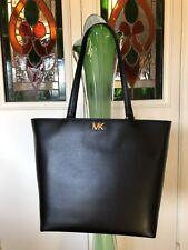 NWT MICHAEL Michael Kors Mott Medium Leather Tote (Black) US$268
