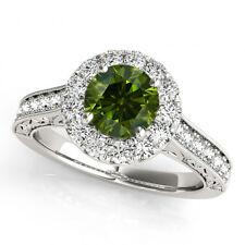 1 Carat Green Diamond Fancy Wedding Band Ring 14k White Gold Best Price on Ebay