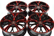 17 red Wheels Rims Eclipse Fusion Civic Elantra Optima Forte Camry 5x100 5x114.3