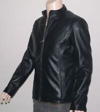 Collared Hip Length Leather Coats & Jackets for Men