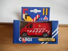 Corgi Ford Transit Fire Chief in Red in Box