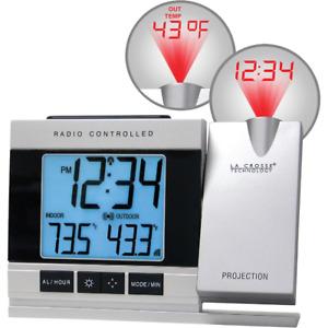 La Crosse Technology Atomic Projection Electric Alarm Clock w/ Temperature