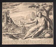 Asia bonito allegorischer grabado de Sadeler 1581-original!!!