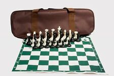 Professional Tournament Chess. 2 Extra Queens. Weight: 2.64 Lb. Black - White