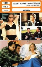 Fiche Cinéma. Movie Card. Sexe et autres complications/The opposite of sex 1998