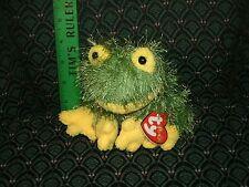 "Ty Punkies 6"" ~ HOPSCOTCH ~ Green FROG~ RARE ~ HTF ~ MWMT ~ 2002 shaggy"