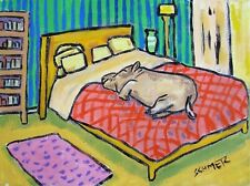 Hippopotamus Sleeping picture 13x19 hippo art Glossy Print