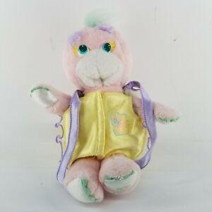 Vintage 1988 Pink Mattel Turtle Tots Tootles Plush Yellow Shell Stuffed Animal