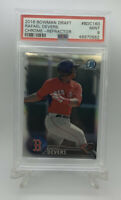 2016 Bowman Draft Rafael Devers #BDC160 Chrome Refractor Rookie Card Psa 9 Mint