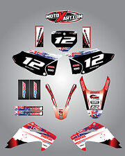 HONDA CRF 150 F - 2003 / 2007 Full  Custom Graphic Kit AUSSIE PRIDE style decals