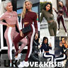 UK Womens 2 PCS Tracksuits Set Ladies Striped Active Sport Loungewear Size 6-14