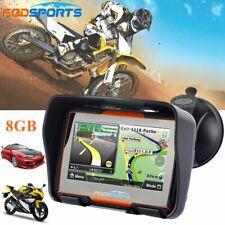 "4.3"" Touch Screen GPS SAT NAV Motorcycle Car Bluetooth Waterproof Navigation Map"
