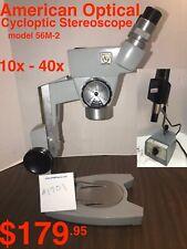 REFURBISHED AO / American Optical CYCLOPTIC Stereo Microscope 10x - 40x