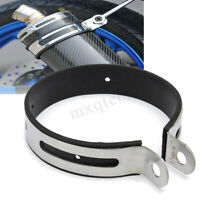 110mm Motorcycle Exhaust Muffler Silencer Can Hanger Clamp Strap Mount Bracket