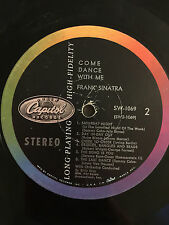 """FRANK SINATRA Capitol COME DANCE WITH ME SW 1069 RECORD ONLY Jazz 12"""" 33 RPM LP"""