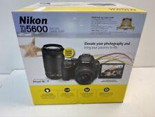 Nikon D5600 Dslr Digital Slr Camera w/ 18-55mm + 70-300mm Lenses Camera Outfit!