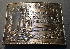 Vintage Adolph Coors & Co Belt Buckle~Beer Advertisement~Native American & Rifle