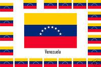 Assortiment lot de 25 autocollants Vinyle stickers drapeau Venezuela