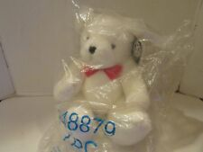 """Valentine Russ Berrie Plush Bear 16"""" White Fully Jointed New In Bag"""