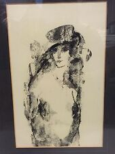 Vintage 1980 RAUL OSCAR MARTINEZ Abstract Lady Painting ~Mexican Artist~