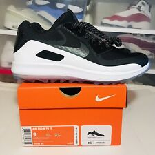6a9ec2cdd5 Nike Air Zoom 90 IT Golf Shoes Spikeless Black Oreo 844569-001 Men's Sz 9