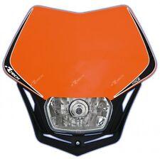 Mascherina Faro Anteriore Moto Universale Rtech V-face Arancio KTM Headlight