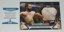 JOHNY HENDRICKS SIGNED AUTO'D UFC 2016 TOPPS KNOCKOUT 5X7 CARD #/49 BAS COA 171