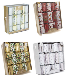 """Box Of 10 Large 14"""" Christmas Crackers Assorted Designs Luxury Gift Dinner Party"""