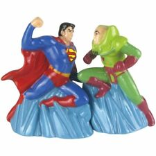 DC Comics SUPERMAN VS LEX LUTHER Magnetic Salt & Pepper Shaker Set by Westland