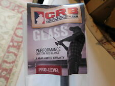 """Crb Fis902Ml 7'6"""" 4-10 lb 2pc. E-Glass rod blank for rod building"""