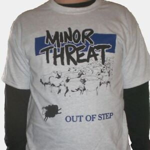 MINOR THREAT Shirt S,M,L,XL Fugazi/Dag Nasty/7 Seconds/Void/Teen Idles/SXE/HC