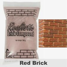 Realistic Brick Compound for Dolls House Bricks - Red