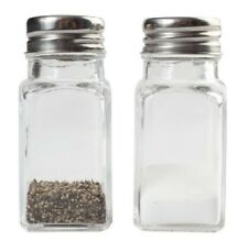 Glass Salt and Pepper Shakers Jar Set (2 Shakers)
