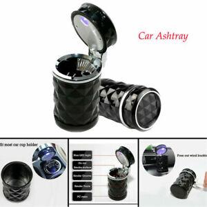 Smoke Ashtray Portable Car Truck LED Diamond Cigarette Ash Tray Holder Universal